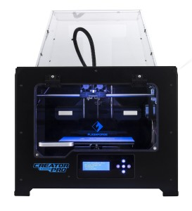 lashForge 3d Printer Creator Pro, Metal Frame Structure, Acrylic Covers, Optimized Build Platform, Dual Extruder W2 Spools, Works with AB