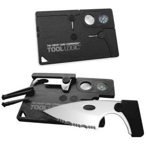 SOG Specialty Knives & Tools CC1SB Credit Card Companion with 9 Tools, Black