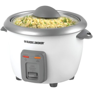 BLACK+DECKER RC3406 3-Cup Dry6-Cup Cooked Rice Cooker, White