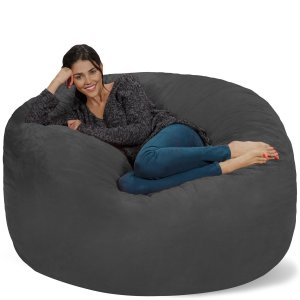 Chill Bag - Bean Bags Bean Bag Chair, 5-Feet, Charcoal