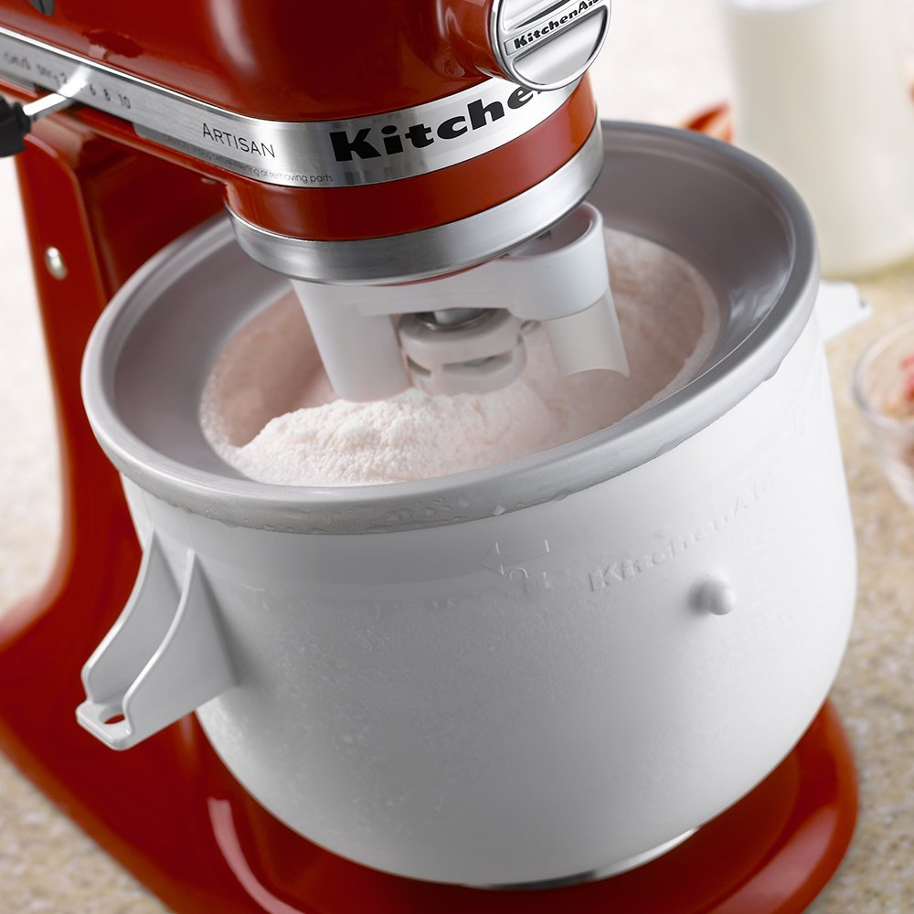 This KitchenAid Ice Cream Maker Attachment Makes Up To 2 Quarts Of Fresh Sorbet And Other Frozen Desserts Unit Constructed By Compact