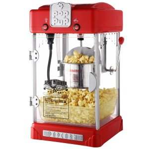 Great Northern Popcorn Machine Pop Pup 2-12oz Retro Style Popcorn Popper