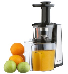 VonShef 150W Slow Masticating Single Auger Juicer Extractor - Yields more Juice & is Easy Clean