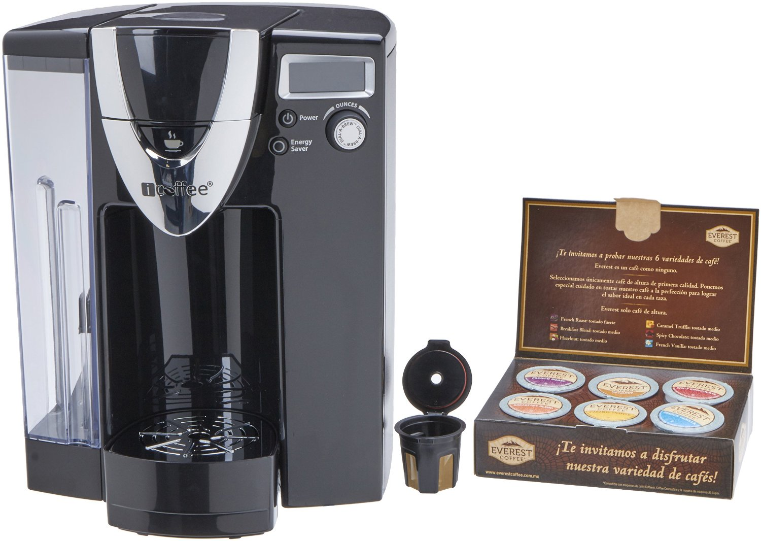 icoffee rss500moz 72 oz mozart single serve coffee brewer with spin brew technology
