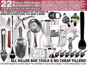 Bartender's Kit Pro-Bartender 22 Piece Bar Set