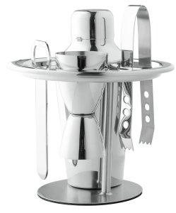 Chef's Star Professional 6 Piece Stainless Steel Compact Bar Set