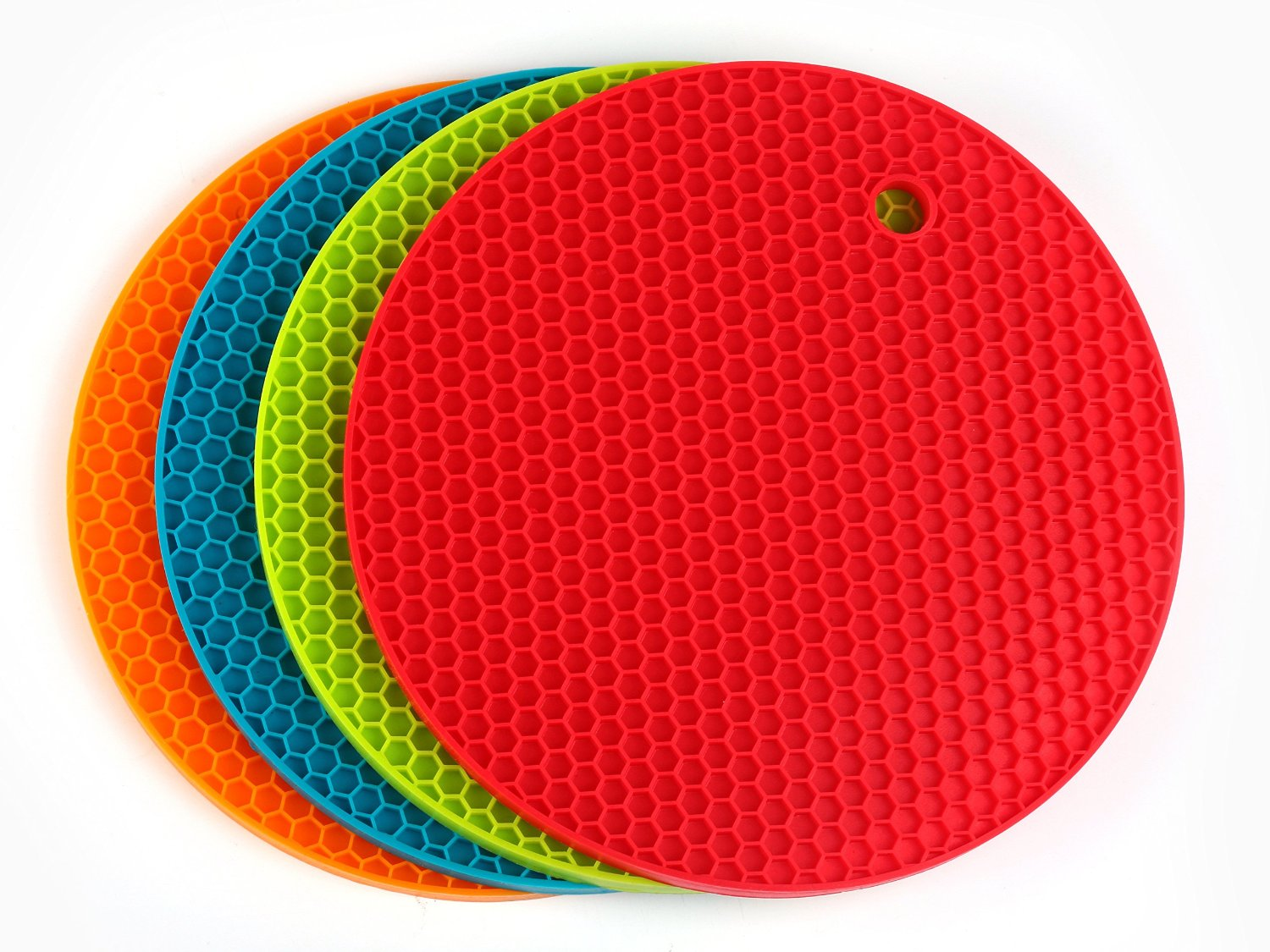 Angela Star 4piece Silicone Durable Flexible Potholder Nonslip Heat  Resistant Placemat Tablemat (18wx18l)
