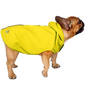 Jelly Wellies Premium Quality Waterproof Reflective Deluxe Raincoat with Polar Fleece Lining for Dogs