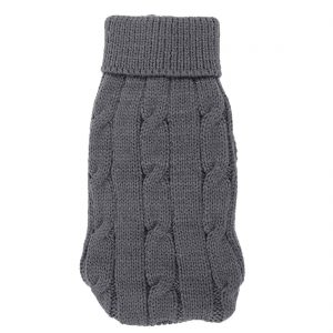 Uxcell Pet Chihuahua Twisted Knit Turtleneck Apparel Sweater, XX-Small, Gray