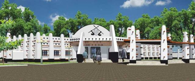 Above is photo of the proposed palace at Nyange