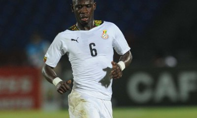 Afriyie Acquah of Ghana during of the 2015 Africa Cup of Nations match between South Africa and Ghana at Mongomo Stadium, Equatorial Guinea on 27 January 2015 Pic Sydney Mahlangu/BackpagePix