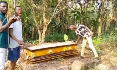 stolen coffin
