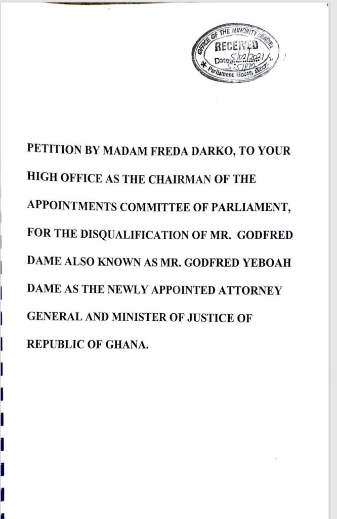14yr old 'unlawful' deal comes to haunt Godfred Dame, as cheated FREKO CEO gives top evidence to Appointments C'ttee 2