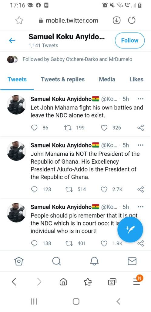 Park yourself somewhere for new flagbearer – Koku boldly tells Mahama in his face 1