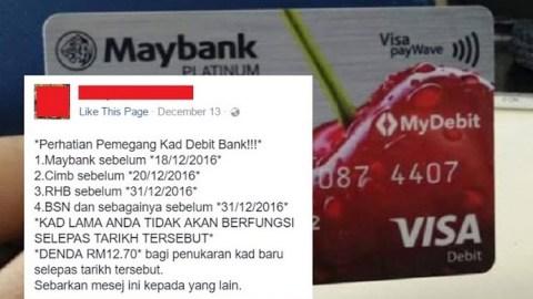Maybank Nafi Kenakan Caj Gagal Tukar Kad ATM Lama