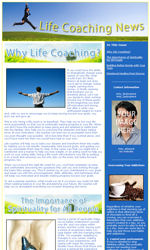 My Newsletter Builder Examples For Life Coach Email