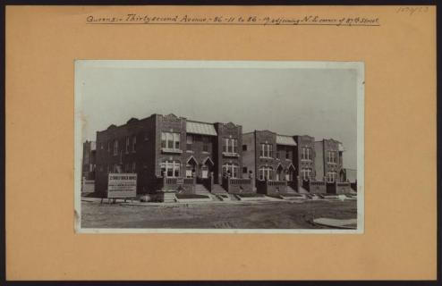 Jackson Heights, 32nd Avenue at 87th Street circa 1927/NYPL Digital Collections