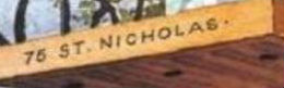 detail photo of the sign at Nicholas