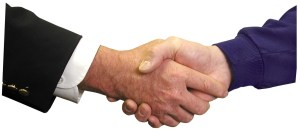 hiring a commercial property manager handshake