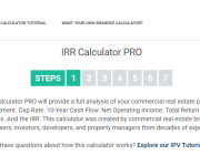 IRR and Investment Calculator Demo
