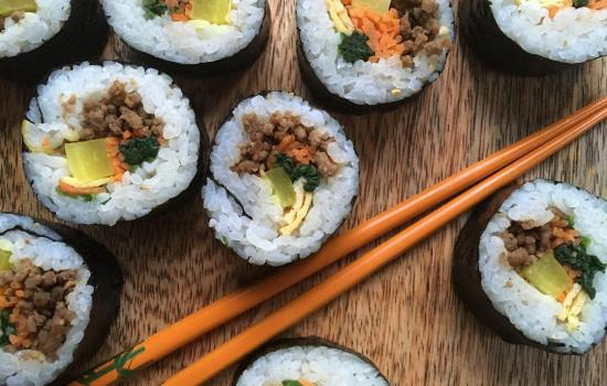 The Classic Korean Gimbap (김밥)