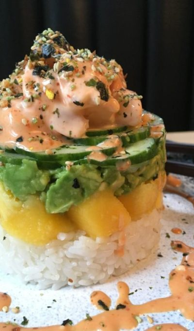 Spicy Shrimp Sushi Tower (CWF: Saranne)