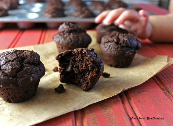 Kid-approved Chocolate Muffins. A clean eating, whole food recipe. No processed ingredients.