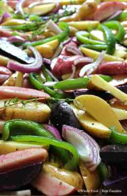 Fingerling Potato Medley with Onions and Peppers Ingredients