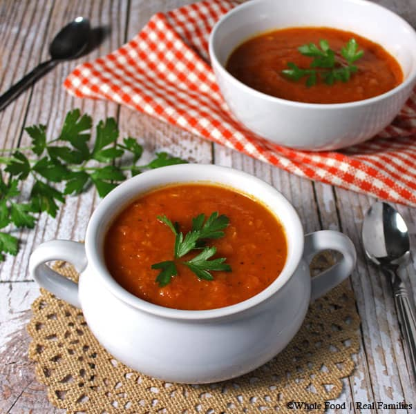 Classic Tomato Soup from fresh tomatoes
