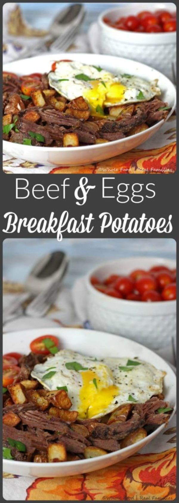 Beef and Eggs over Breakfast Potatoes