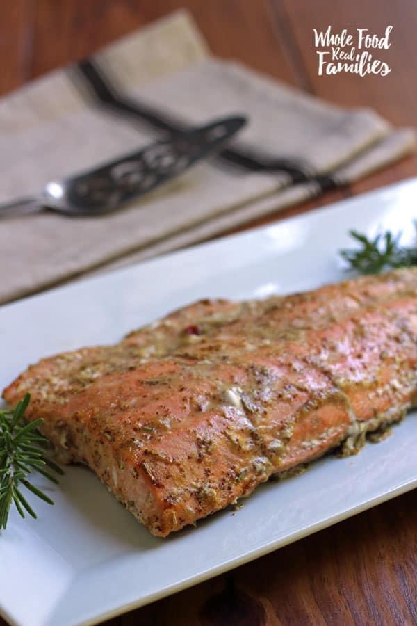 Honey Mustard Glazed Salmon