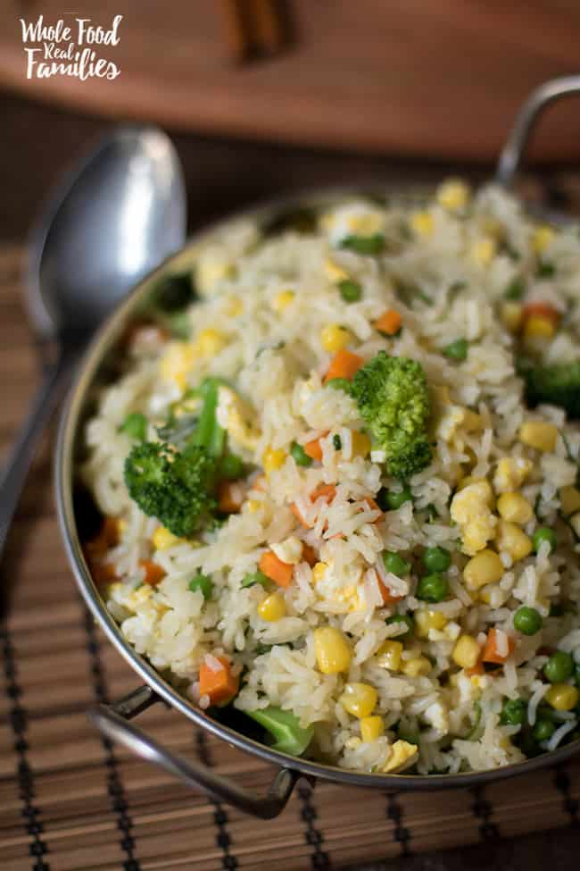 Healthy Vegetable Fried Rice Recipe for dinner