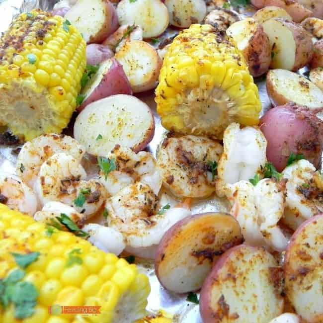Cajun Butter Shrimp, easy to make one sheet dinner