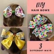 make hair bows - 3 easy