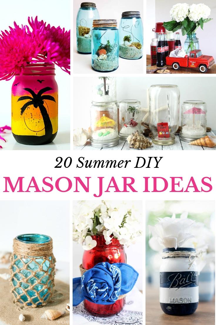 unique summer mason jar