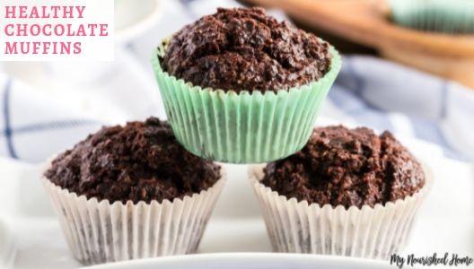 Healthy Chocolate Muffins Recipe - MYNOURISHEDHOME.COM