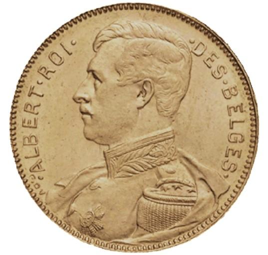 20 Francs Albert I guldmynt