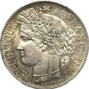 5 francs Ceres silvermynt