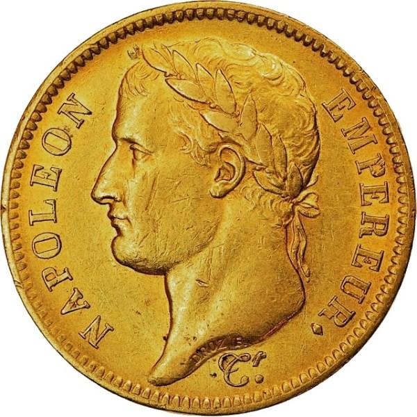 40 Francs Napoleon I guldmynt - Dubbel Louis d'or