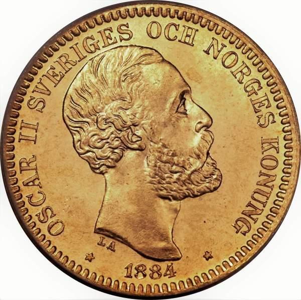 20 Kronor Oscar II guldmynt - Konung av Sverige och Norge