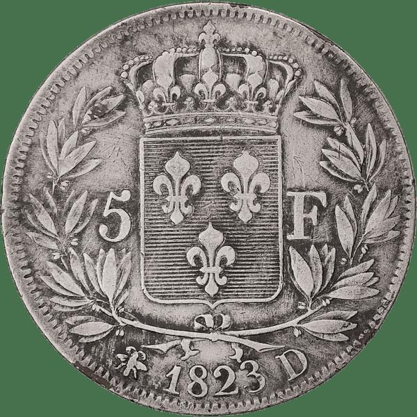 5 Francs Ludvig XVIII av Frankrike