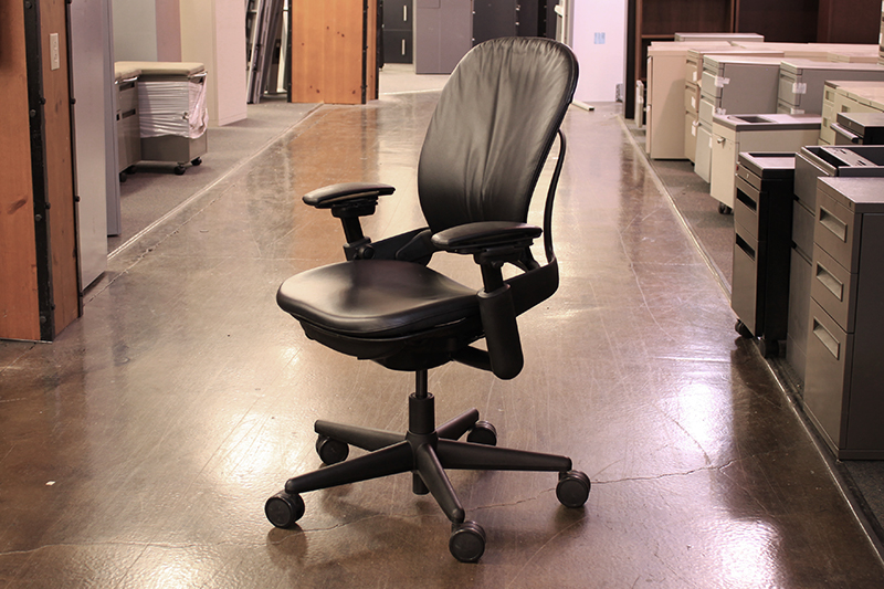 used desk chairs camouflage recliner chair steelcase leap office leather