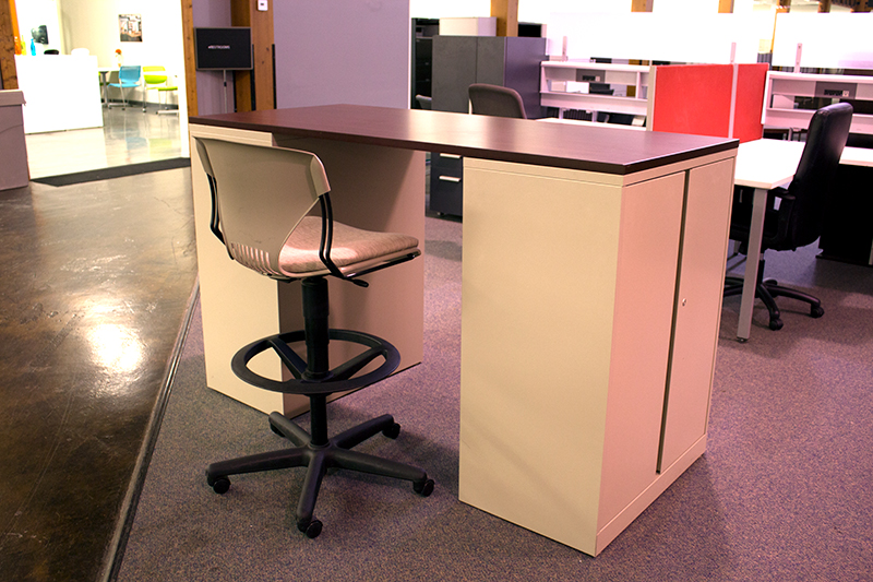 Used Standing Working Island Desk  Office Furniture Warehouse