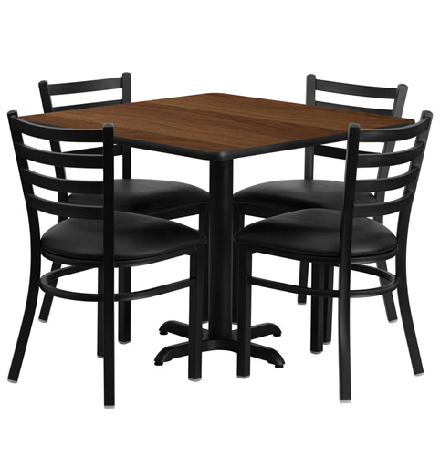 Cafeteria Breakroom Square Dining Table Sets