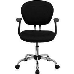 Cloth Office Chairs Farmhouse Table Mesh Fabric Chair With Arms And Chrome Base Myofficeone Com Mid Back Black