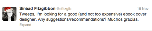 Tweet from Sinead Fitzgibbon, that led to the cover of her book The Short History of London