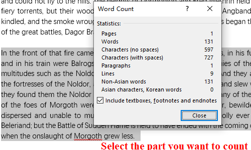 How to Count Words in Microsoft Word Document