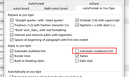 How to Stop Automatic Numbering in Word Once and for All