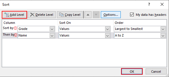 How to Sort Data in Excel by Multiple Conditions