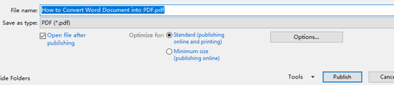 2 Methods to Convert Word Document into PDF